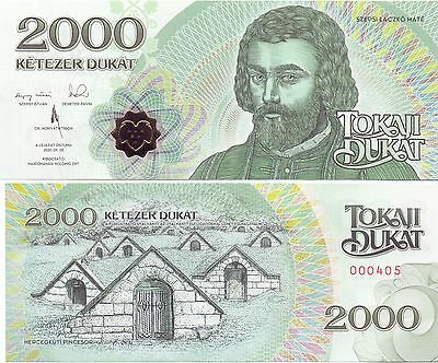 Ungarn / Hungary - 2000 Dukat 2016 UNC - local currency