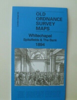 Old Ordnance Survey Maps Whitechapel Spitalfields &  Bank London 1894 Godfrey Ed