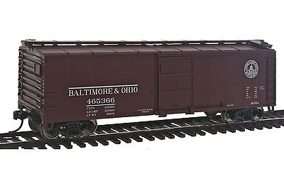 HO B&O 40' Steel Boxcar w/Dreadnaught End #465366 - Walthers Mainline #910-2401