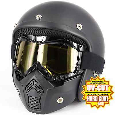 Motorcycle UV Goggles Motocross BMX Ski & Removable Mouth Guard Face Guard Mask