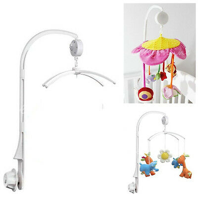 4Pcs Baby KIds Crib Mobile Bed Bell Toy Holder Arm Bracket + Wind-up Music Box