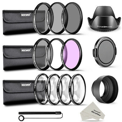 Neewer 58mm UV CPL FLD ND2 ND4 ND8 Close-up Filtro para CANON EOS 700D 650D 600D