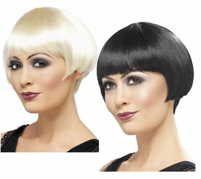 Flapper Bob Wig Ladies 1920s Great Gatsby Fancy Dress Wigs