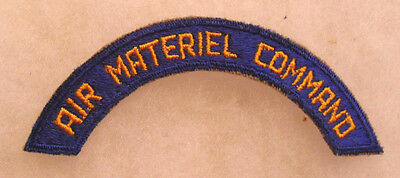 Wwii Original Aaf Air Material Command Tab No Glow Cotton Cut Edge