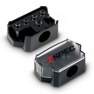 T-spec v12 Series Power or Ground Distribution Block - 1/0 AWG In - 4/8 AWG Out
