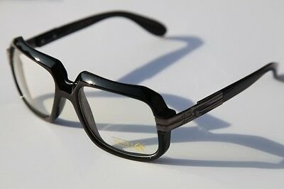 Black Square hipster vintage nerd Sun-Glasses with Clear lens Rapper 80's