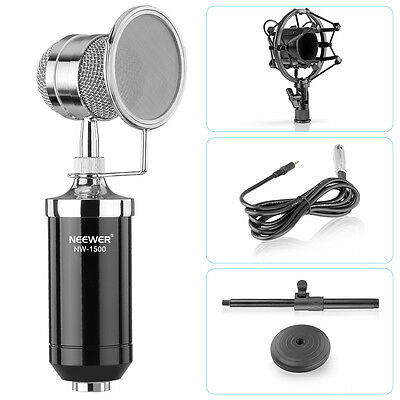 Neewer (1) NW-1500 Microphone ¨¤ Condensateur Broadcast & Record Bureau
