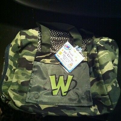 Webkinz Plush Pet Carrier Camo Green ~Army~ Camouflage Pattern