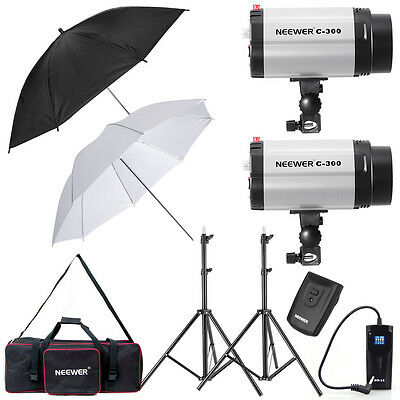Neewer 600W Monolight Strobe Flash Light Umbrella Lighting Kit (300DI)