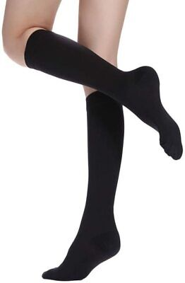 1 Pair Mens Ladies Flight Travel Socks Comfy Safe Dvt Compression Knee High NEW