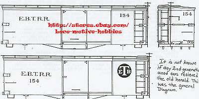 Funaro F&C 5104 HOn3  EAST BROAD TOP  Old Time EBT Wood Boxcar #154 Narrow Gauge