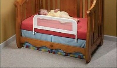 KidCo Bed Safety Rail for Convertible Baby Crib White Mesh BR102