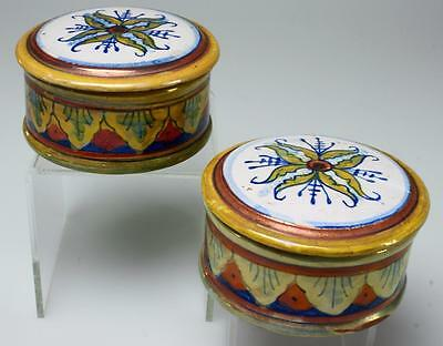 Two Pottery or Trinket Boxes Made in Italy and signed AR Italy PK49