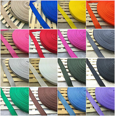 """New 3/4"""" 20mm Width  Nylon Webbing Strapping 2/5/10/50 Yards 21 Color Pick YG"""