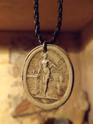 Flora necklace - Ancient Goddess of spring and flowers - Greek / Roman art.