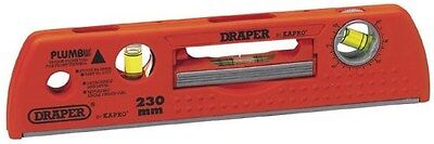 Draper 69608 225Mm Plumb Site Dual View Spirit Level With Magnetic Base