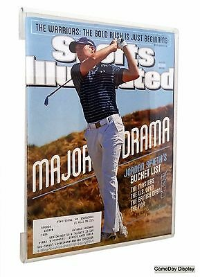 Frameless MAGAZINE SPORTS ILLUSTRATED DISPLAY CASE Frame UV Protect SHADOW BOX B