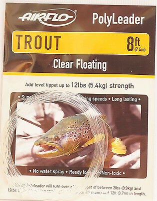 AIRFLO Polyleader TROUT 5ft /1,50 Mtr. CLEAR FLOATING