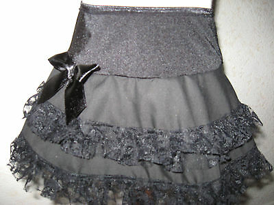New Baby girls Black linen Lace Skirt Gift Rock Punk Party Alternative Clothing