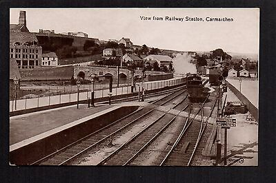 Carmarthen - View from Railway Station - printed photographic postcard