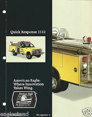 Fire Truck Brochure - American Eagle - Quick Response 1112 Pumper  (DB167)