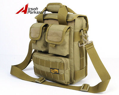 "LooYoo 10"" Tactical Outdoor Molle Laptop Hand Shoulder Sling Bag Pouch for iPad2"
