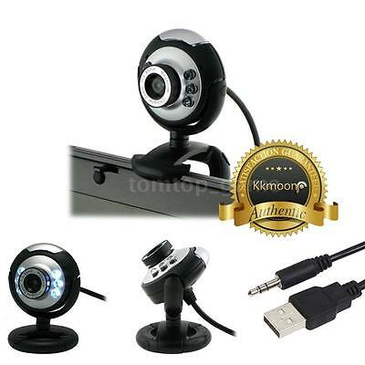 USB 12MP 6 LED Camera Web Cam with Mic Microphone for Desktop/PC/Laptop Skype