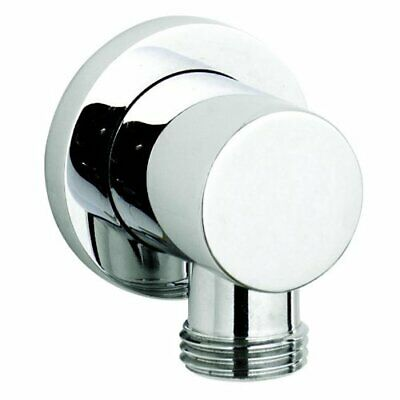 Round Chrome Minimalist Bathroom Shower Hose Outlet Elbow Ultra A3275