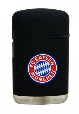 Licensed Fc Bayern Munich München Easy Torch Rubber W. Logo Lighter /black *new*
