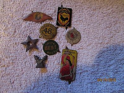 8 Different Vintage Tobacco Tags Rooster Yankee Girl Harvey's & Others