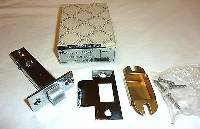 "Baldwin 8520-260 1"" Latch w/ T Strike Brass POLISHED CHROME NEW in Box!"