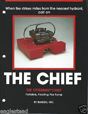 Fire Equipment Brochure - Barebo - Otterbine - The Chief Floating Pump (DB179)