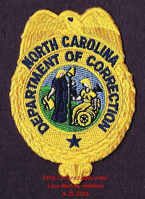 LMH Patch  NORTH CAROLINA  Obsolete DEPARTMENT CORRECTIONS Old Logo DOC  3-1/2""