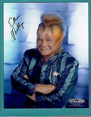 Ethan Phillips - Signed 8x10 - Star Trek Voyager - with COA  - 2 auto photos