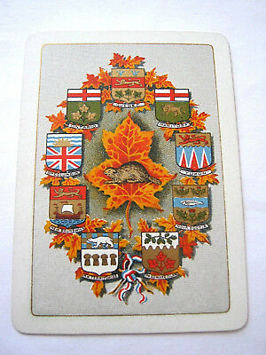 Playing Cards Antique Chas Goodall London For Canada Armorials Beaver Maple Back