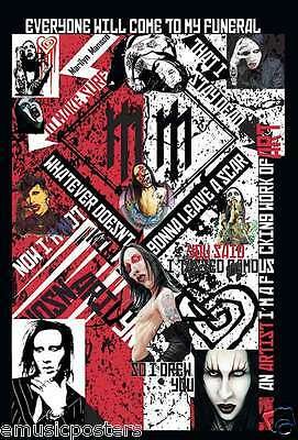 """Marilyn Manson """"everyone Will Come To My Funeral"""" Poster From Asia (#55007)"""