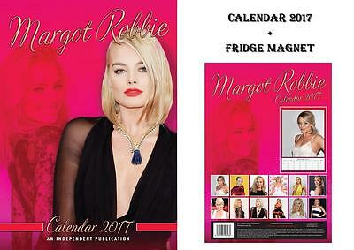 Margot Robbie 2017 Calendar + Margot Robbie Fridge Magnet