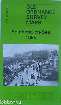 Old Ordnance Survey Detailed  Map Southend on Sea Essex 1895 Sheet 87.11 New Map