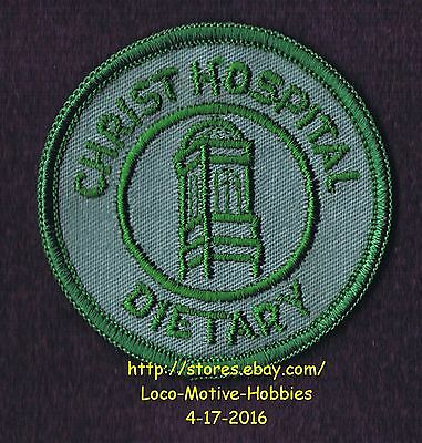 """LMH PATCH Badge CHRIST HOSPITAL Medical Center DIETARY Food Svc gn Old Logo 2.3"""""""