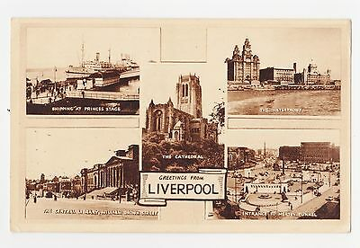 Liverpool,U.K.5 Views.Merseyside,Used,Liverpool,1958