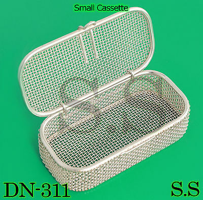"Sterilization Cassette Tray 4.75"" x2.25"" x1"" Perforated Mesh Box DN-311"
