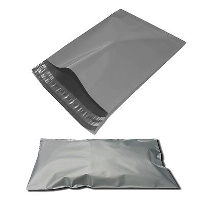 """100 pcs 9""""x12"""" Strong Grey Large Mailing Bag Self Seal Poly Postal package"""