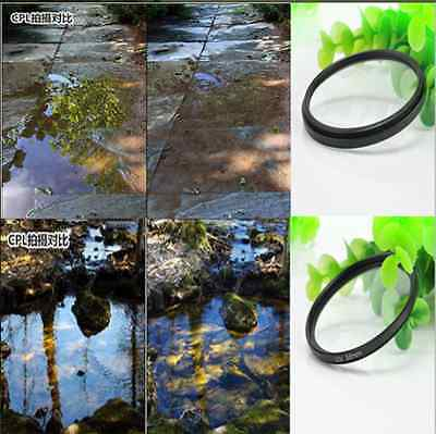 Circular Polarizing UV Filter Lens Protector for Canon Rebel 18-55mm New H