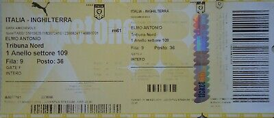 mint TICKET Friendly Match 31/3/2015 Italy vs. England @ Torino