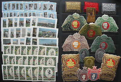 Collection with several hundert Vignettes Poster Stamps Military