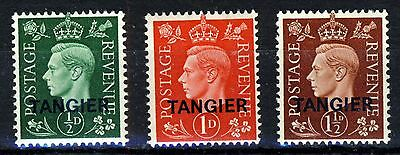 MOROCCO AGENCIES TANGIER KGVI 1937 Overprinted TANGIER Set SG 245 to SG 247 MINT