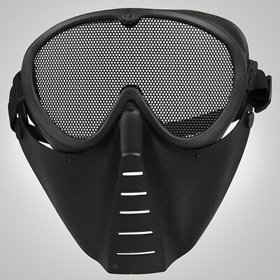 CS Game Hunting Paintball Mask Face guard with Goggles Protective gear