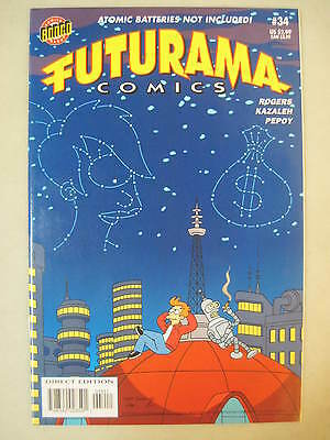 Futurama Comics #34 Bongo Comics Group Lela In Stars, Fry & Bender Cover