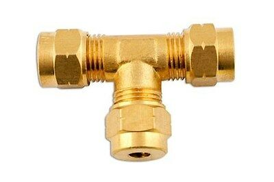Connect 31123 Brass Coupling Tee Piece 10.0mm Pk 5