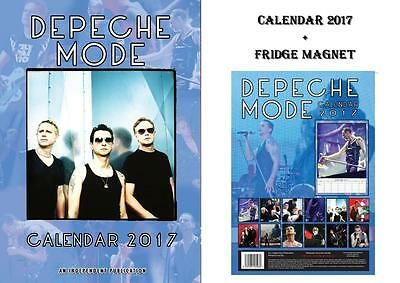 Depeche Mode 2017 Calendar + Depeche Mode Fridge Magnet - In Stock Now